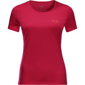 Jack Wolfskin Tech T-shirt Dames, scarlet